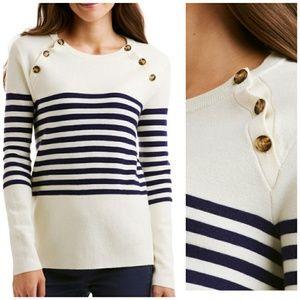Vineyard Vines Merino Button Neck Wool Sweater XL